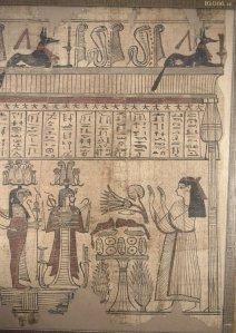 Imagen de un papiro egipcio conservado en British Museum