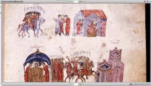 """Ilustraciones de la """"Crónica de Skylitzes"""" que se conserva en la BNE"""