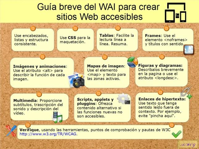 Guia breve para crear sitios Web accesibles del WAI