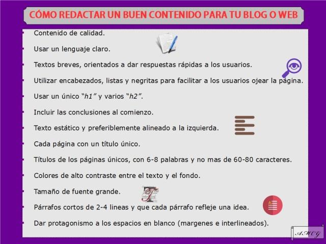 ¿Cómo redactar un buen contenido para tu web o blog?