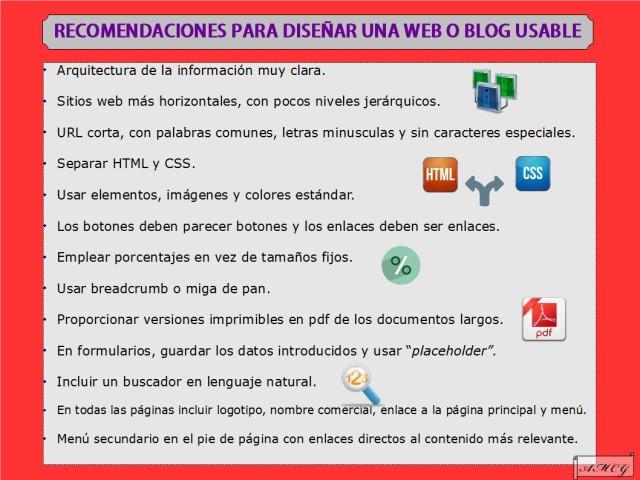Recomendaciones para diseñar un sitio web usable