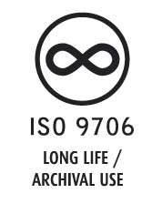 Simbolo del papel permanente fabricado segun la norma ISO 9706