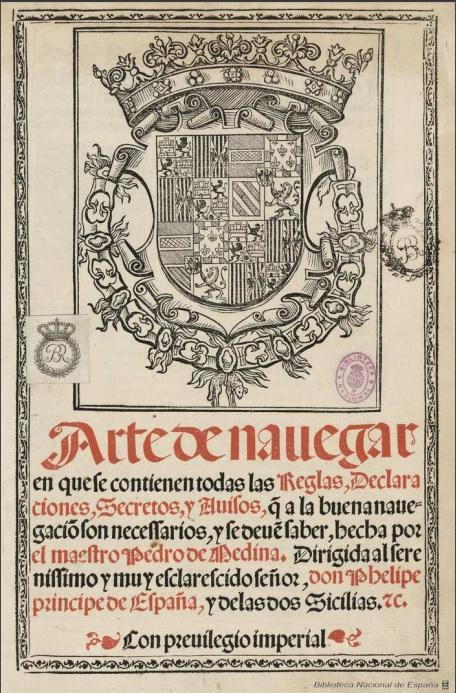 Arte de Navegar. Libro impreso en el siglo XVI