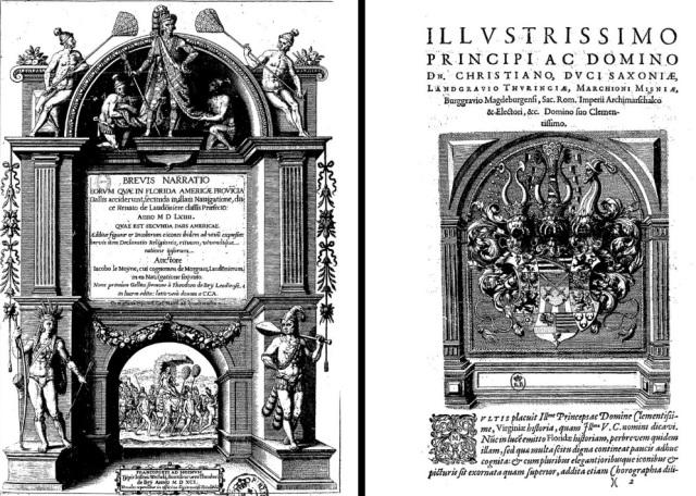 Libro del siglo XVI sobre viajes. Autor Le Moyne